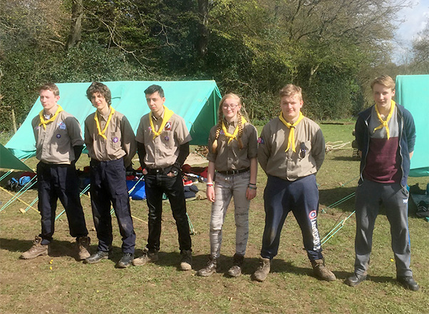 Explorer Scouts leading at camp