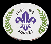 Lest We Forget - Scout pin badge